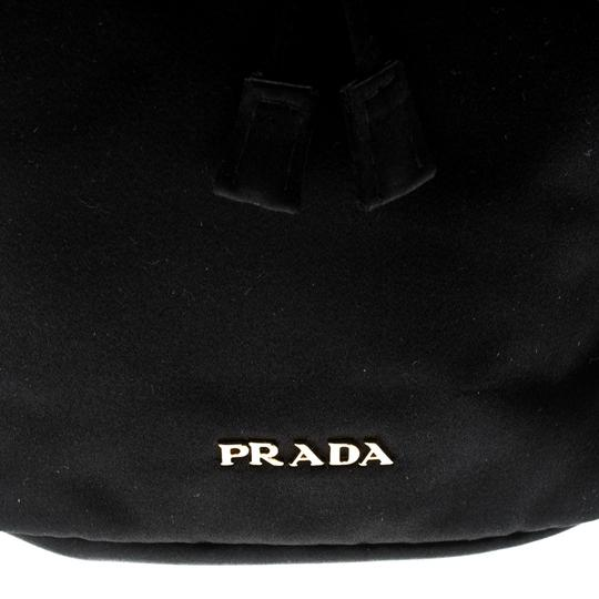 Prada Satin Black Clutch Image 8