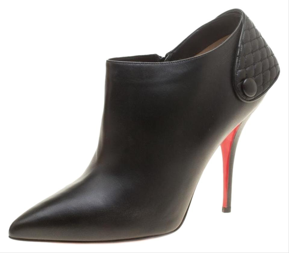 classic fit 1c3a0 457dc Christian Louboutin Black Leather Huguette Pointed Toe Ankle Boots/Booties  Size EU 41 (Approx. US 11) Regular (M, B) 32% off retail