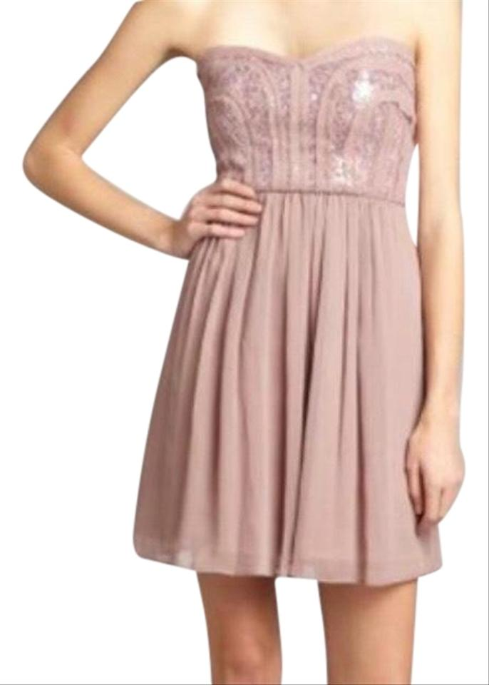 Bcbgmaxazria Pale Pink Strapless Short Tail Dress Size 4 S 64 Off Retail