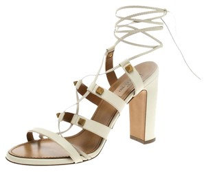 Valentino Leather Lace White Sandals