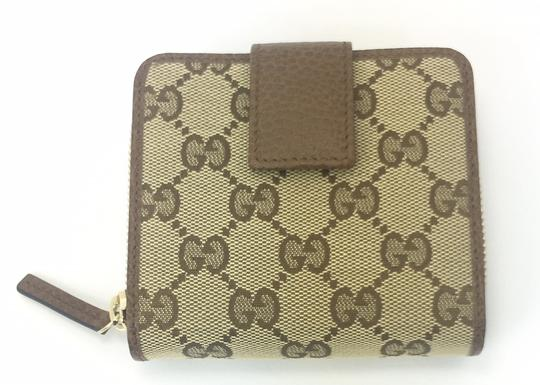 Gucci Gucci GG Canvas Zip Around French Wallet #346056 Image 1