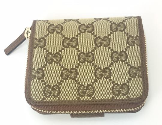 Gucci Gucci GG Canvas Zip Around French Wallet #346056 Image 2