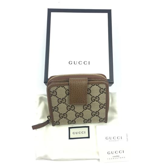 Gucci Gucci GG Canvas Zip Around French Wallet #346056 Image 4