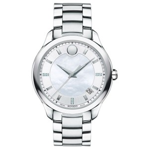 Movado Bellina Stainless Mother of Pearl Diamond Dial 0606978