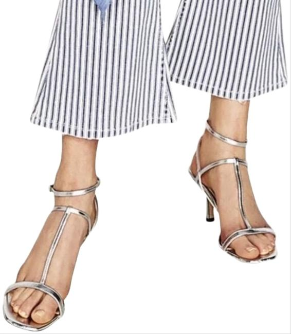 Item - Silver Leather High Sandals Size US 6.5 Regular (M, B)