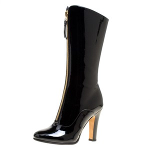 Valentino Patent Leather Detail Black Boots