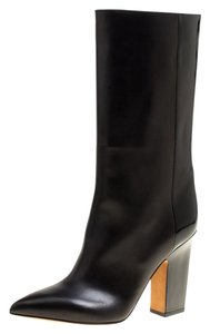 Valentino Leather Pointed Toe Black Boots