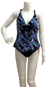Tropical Honey Tropical Honey Two piece Multicolored Criss Cross Tankini Bathing Suit