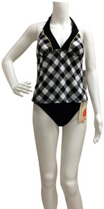 Tropical Honey Tropical Honey Two piece Checkered Tankini Bathing Suit