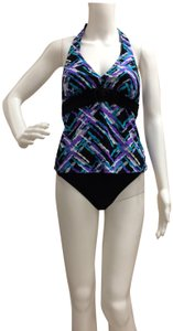Tropical Honey Tropical Honey Two piece Multi colored Tankini Bathing Suit