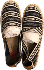 Tory Burch blue and white Flats