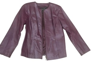 Terry Lewis Classic Luxuries purple Leather Jacket