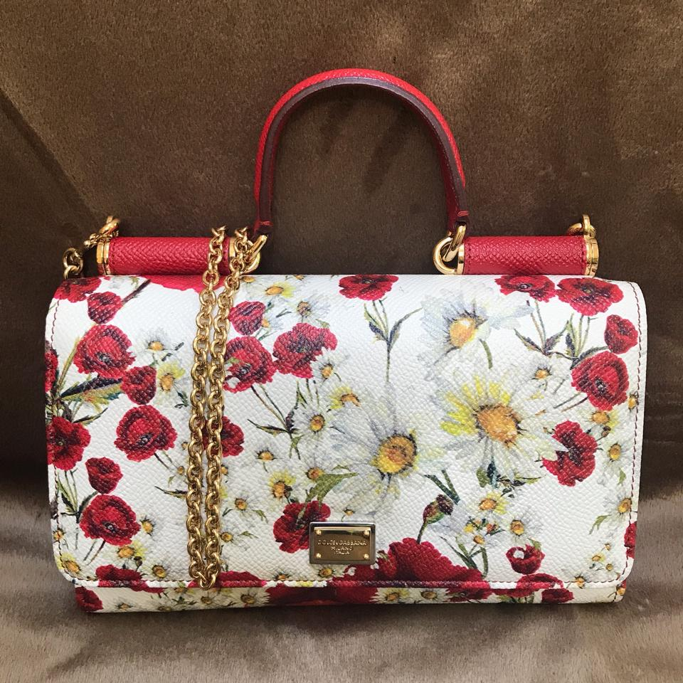 88d51cdd582 Dolce&Gabbana D&g Mini Print Leather Made In Italy Sicily Von Cross Body Bag  Image 0 ...