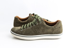 Bally Green Military Bovine Suede Sneakers Shoes