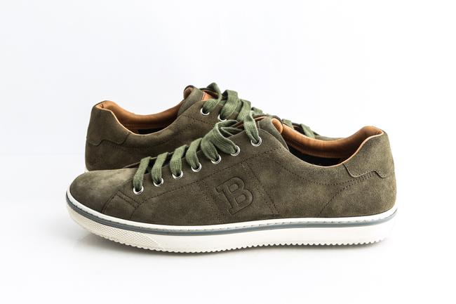Item - Green Military Bovine Suede Sneakers Shoes