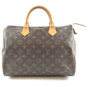 Louis Vuitton Lv Speedy Monogram Canvas Satchel in Brown