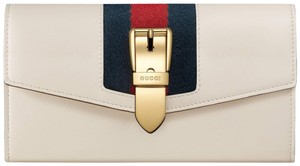 Gucci Gucci Womens White Sylvie Leather Continental Wallet B631