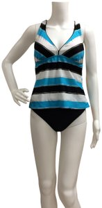 Tropical Honey Tropical Honey Two Piece Striped Tankini Bathing Suit