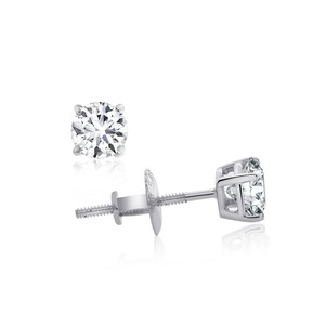 Avital & Co Jewelry AGS Certified 0.50 CTTW Round Brilliant Diamond Screw Back Studs G-H/I