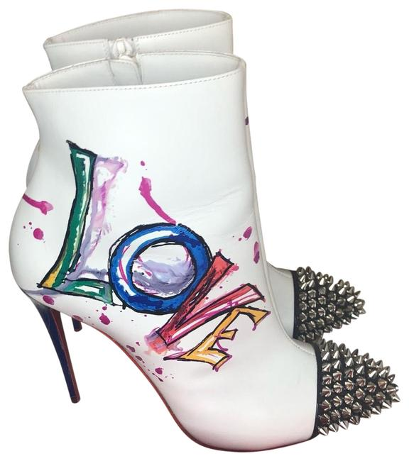 Item - White with Multicolor In Love 100 Calf Patent Ankle Boots/Booties Size EU 38.5 (Approx. US 8.5) Regular (M, B)