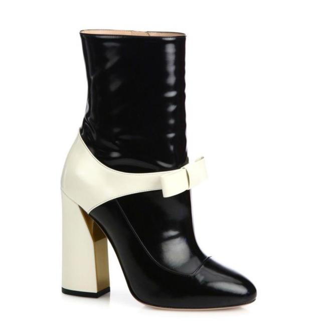 Item - Black & White Magnolia Nimue Ankle Boots/Booties Size EU 37.5 (Approx. US 7.5) Regular (M, B)