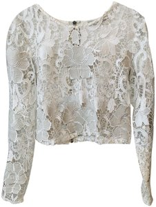 612c0bed Alexis Longsleeve Crop Lace Leather Summer Top White