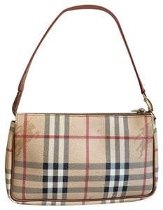 3885ca020e Burberry Pochette Haymarket Check Pvc Leather Shoulder Bag