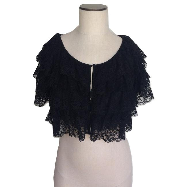Item - Black Tiered Ruffle Bolero Shrug Blazer Size 4 (S)