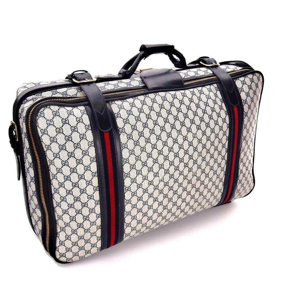 0613be1a78 Gucci Full Size Suitcase Luggage Blue Supreme Web Gg Monogram Canvas ...