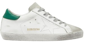 Golden Goose Deluxe Brand Ggdb Superstar Skate Sneaker White and Green Athletic