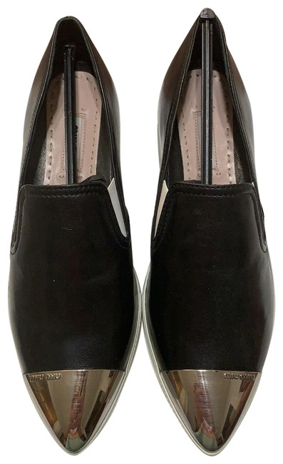 Item - Black Leather and White Platform Toe Sneakers Boots/Booties Size EU 37 (Approx. US 7) Regular (M, B)
