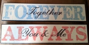 Target Blue Love Themed Sign Reception Decoration