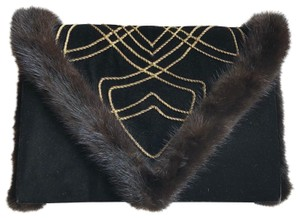 isabel canovas black/gold Clutch