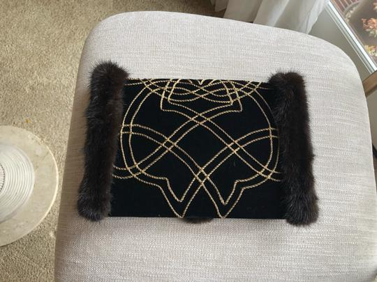isabel canovas black/gold Clutch Image 4