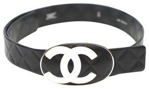 Chanel Cambon CC Logo Quilted Leather Belt