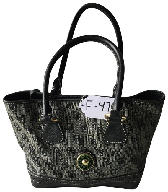 Item - Signature D&b Black/White Canvas and Leather Tote