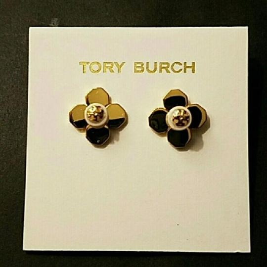 Tory Burch Tory Burch GOLD BABYLON PEARL FLORAL FLOWER STUD EARRINGS Image 2