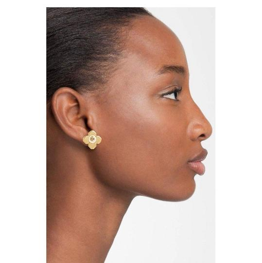 Tory Burch Tory Burch GOLD BABYLON PEARL FLORAL FLOWER STUD EARRINGS Image 3