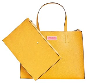 Kate Spade Satchel in Yellow/Gold/Gray