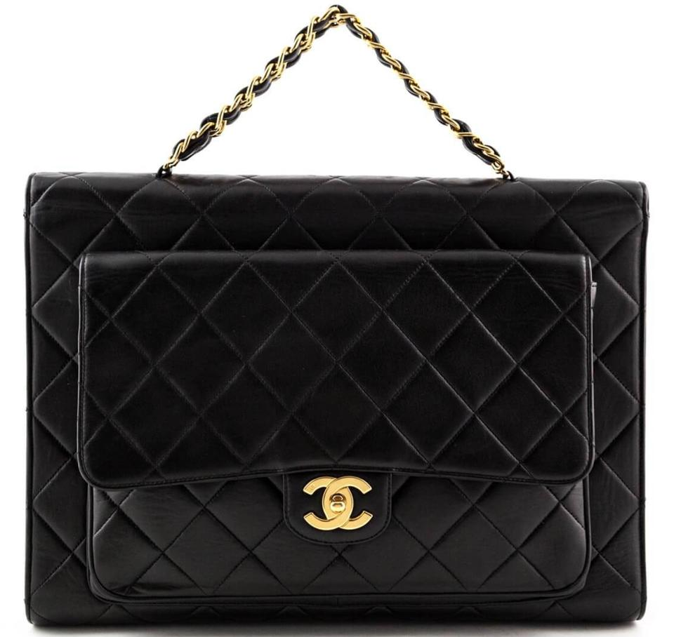 b873042bb6 Chanel Vintage Briefcase Business Work Shoulder Bag Image 0 ...