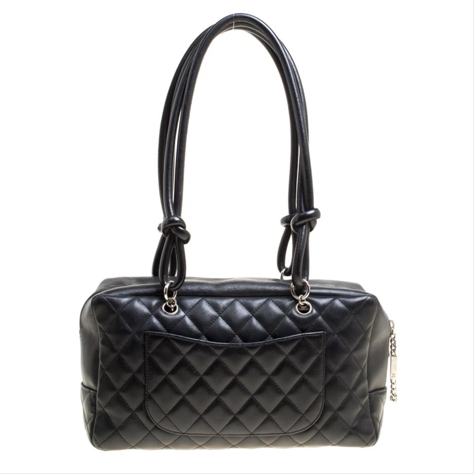 a4c067a4c Chanel Cambon Quilted Ligne Bowler Black Leather Tote - Tradesy
