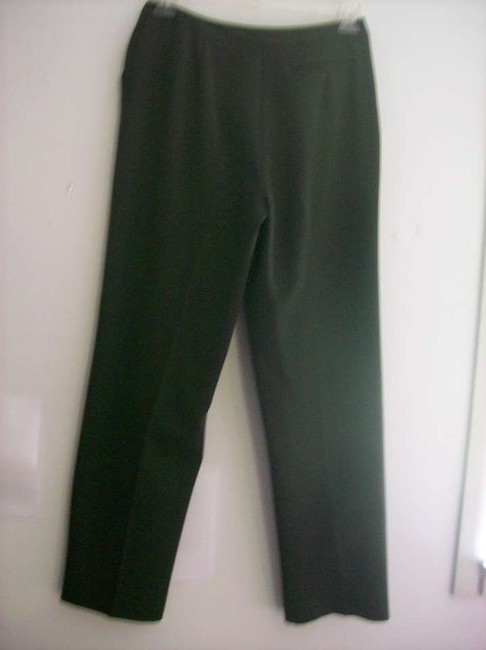 Norton McNaughton Straight Pants Dark Olive Greenn
