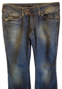 Pepe Jeans Low Cut Flare Leg Jeans-Distressed