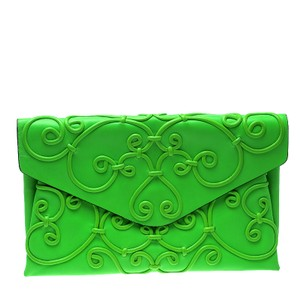 Valentino Leather Green Clutch