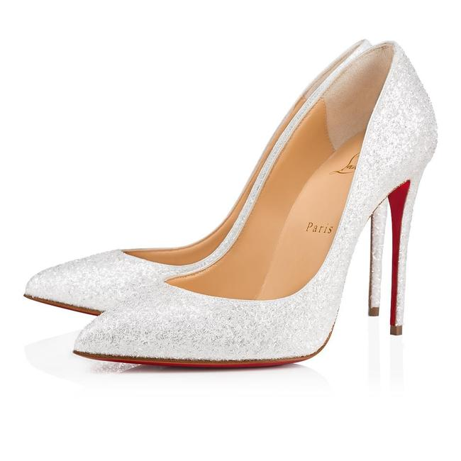 Item - White Classic Pigalle Follies 100mm Leather Glitter Givre Point-toe Pumps Size EU 39.5 (Approx. US 9.5) Regular (M, B)