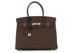 Hermès Hr.q0412.02 Palladium New Reduced Price Satchel in Brown