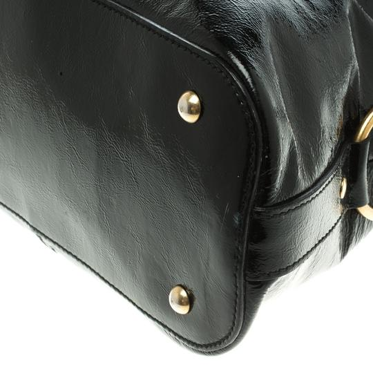 Saint Laurent Patent Leather Satin Tote in Black Image 10