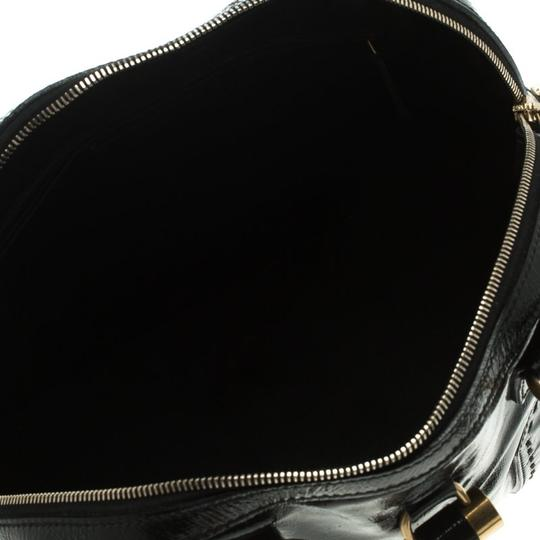 Saint Laurent Patent Leather Satin Tote in Black Image 5