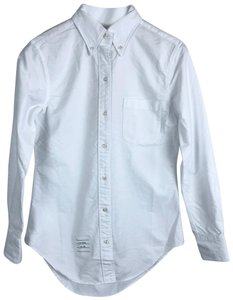 bb20f45145 Thom Browne Button Down Shirt White