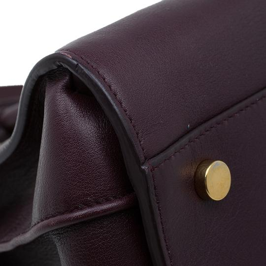 Saint Laurent Leather Suede Tote in Burgundy Image 9